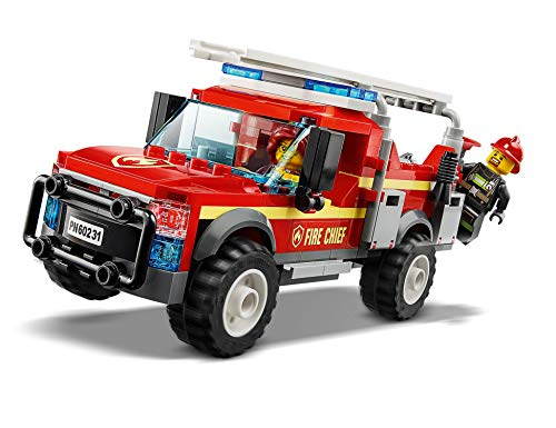 LEGO 60231 City Town Fire Chief Response Truck Set with Fire Engine and Water Cannon, Toys for Kids 5 Years Old