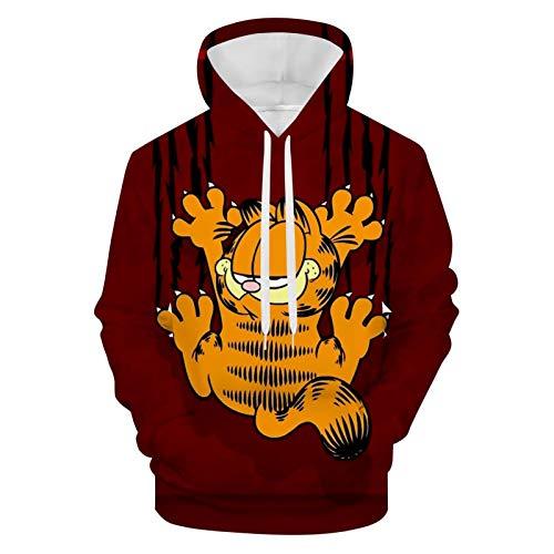 423 Unisex Hoodie 3D Gedruckt Kapuzenpullover Sweatshirt für Männer Frauen Gr. Small, Weiß10
