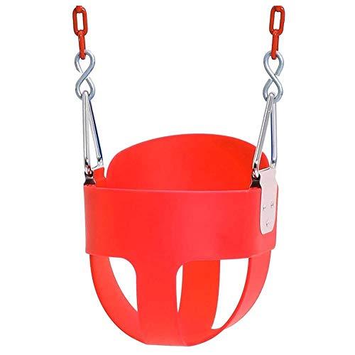 Amiiaz Con Cadena Asiento de Columpio para niños EVA Gruesa Juego de Columpios Interior al Aire Libre Juguete para bebé para niños Adultos Carga 150 kg Seguro Silla Colgante- Rojo