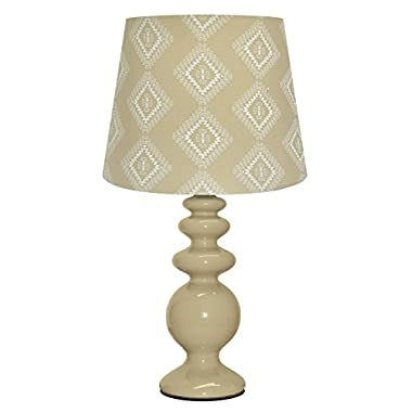 Urban Shop Porcelain Lamp with Zuni Lamp Shade, Taupe