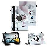 NAUC Tablet Schutzhülle kompatibel für Medion Lifetab X10311 P9702 X10302 P10400 Tasche Universal Hülle Kunstleder Standfunktion 360 Drehbar, Farben:Motiv 4