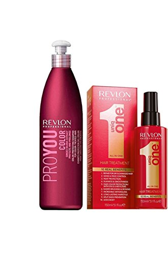 Revlon - Uniq One - Trattamento da 150ml + Shampoo Revlon Proyou Colore da 350ml