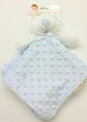 Blankets and Beyond Blue and White Dot Bear Baby Security Blanket by Blankets and Beyond