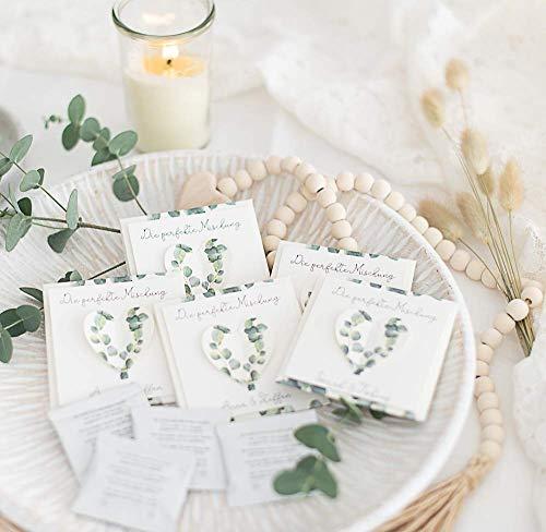 Gastgeschenk personalisiert inkl. Blumensamen Eukalyptus Leaves zur Hochzeit