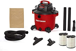 CRAFTSMAN CMXEVBE17595 16 Gallon 6.5 Peak HP Wet/Dry Vac, Heavy-Duty Shop Vacuum with Attachments and Additional General Purpose Filter