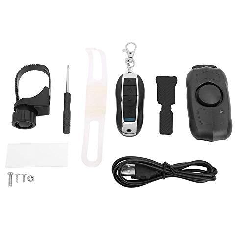 Keenso Fahrrad 2 in 1 Horn Alarm Set, USB-Ladehupe Drahtlose Fernbedienung Vibrationsalarm Fahrrad Elektrofahrrad Horn Alarm Zubehör
