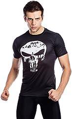 Cody Lundin Hombres Fitness Camiseta compresión Run Movimiento cráneo Impreso Logo Camiseta Hombre Manga Corta