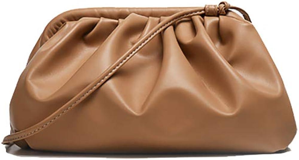 Womens Pouch Dumpling Crossbody Bag Cloud Handbag Soft Clutch Purse Shoulder Bag