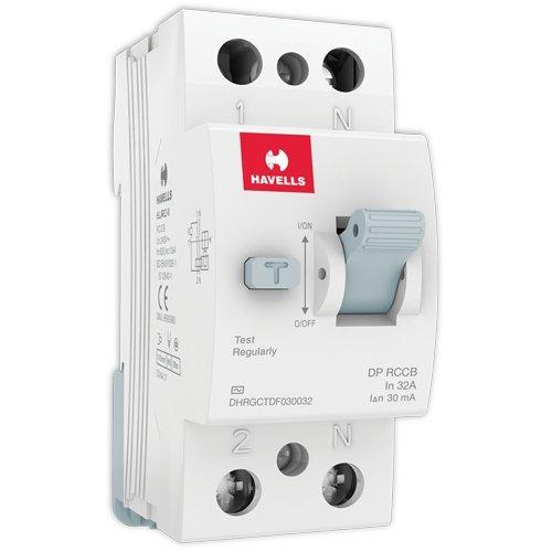 Havells DHRGCTDF030032 RCCB 'AC' Type DP PVC Plastic Base Model (White)