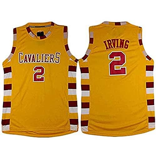 XSJY Jerseys De Baloncesto De Los Hombres - NBA Cleveland Cavaliers # 2 Kyrie Irving Swingman Edition Mesh Jersey Unisex Unisex Sin Mangas Vest Top Sportwear,A,S:165~170cm/50~65kg