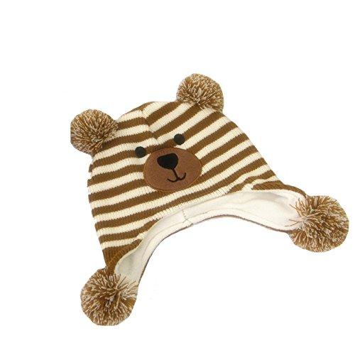 Aiklin Kinder Winter Strickmütze Hut Tier-Form Beanies (Bär)