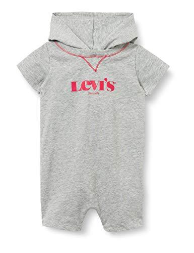 Levi's Kids HOODED LOGO GRAPHIC ROMPER C667 Canastilla para bebés y niños pequeños Grey Heather para Bebé-Niños