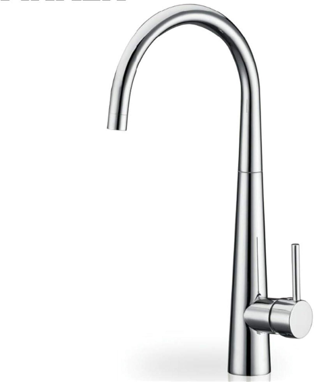 Basin Taps Swivel Spout Faucet Copper High-End Single Hole Kitchen Hot and Cold Faucet Sink Kitchen Faucet Open Faucet
