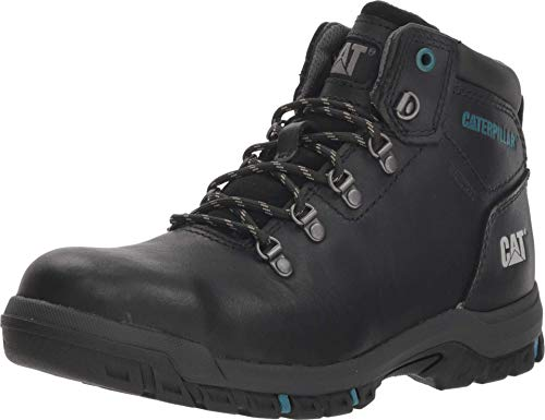 Caterpillar womens Mae Steel Toe Waterproof Work Construction Boot, Black, 7.5 US
