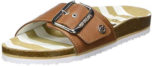 Tom Tailor Damen 8093403 Pantoletten, Beige (Camel 00070), 39 EU