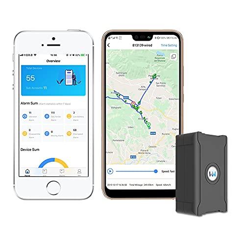 WanWayTech GPS Tracker, monitoraggio in tempo reale, asset GPS Tracker, batteria ricaricabile da 6000 mAh