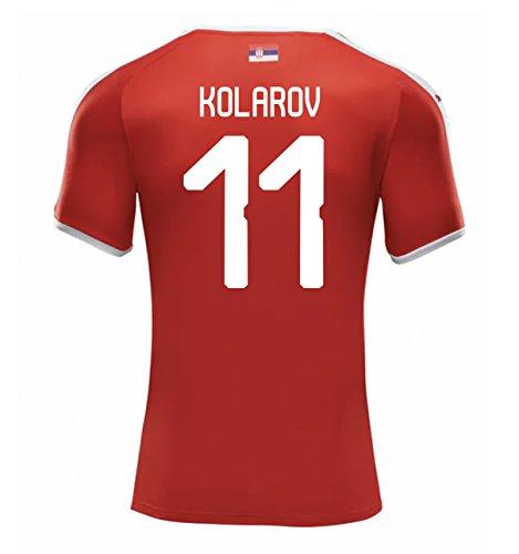 PUMA KOLAROV #11 Serbia Men's Home Jersey World Cup Russia 2018 (2XL) Red