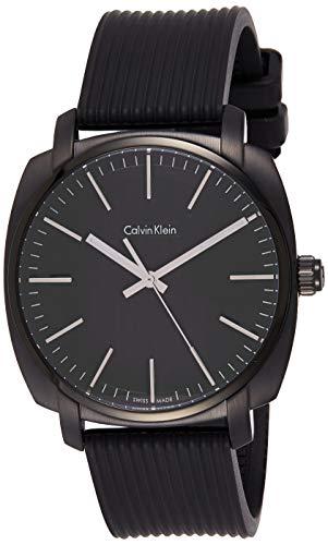 Calvin Klein Reloj Analógico para Hombre de Cuarzo con Correa en Caucho K5M314D1