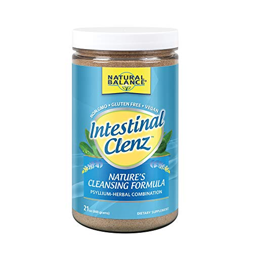 Natural Balance Intestinal Clenz - Psyllium Herbal Cleansing Powder - Healthy Digestion, Detox & Regularity Supplement - Gluten Free - 21oz, 120 Serv.