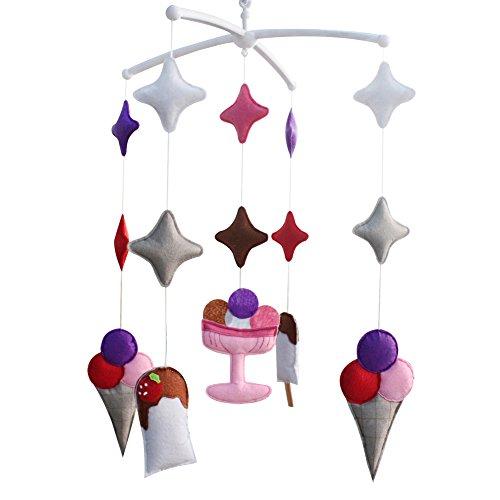 Mobile mobile musical de lit de bébé de pépinière de décoration de berceau pendant 0-2 ans, MP15
