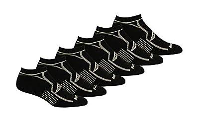 Saucony Men's Multi-Pack Bolt Performance Comfort Fit No-Show Socks, Black Assorted (6 Pairs), Shoe Size: 8-12