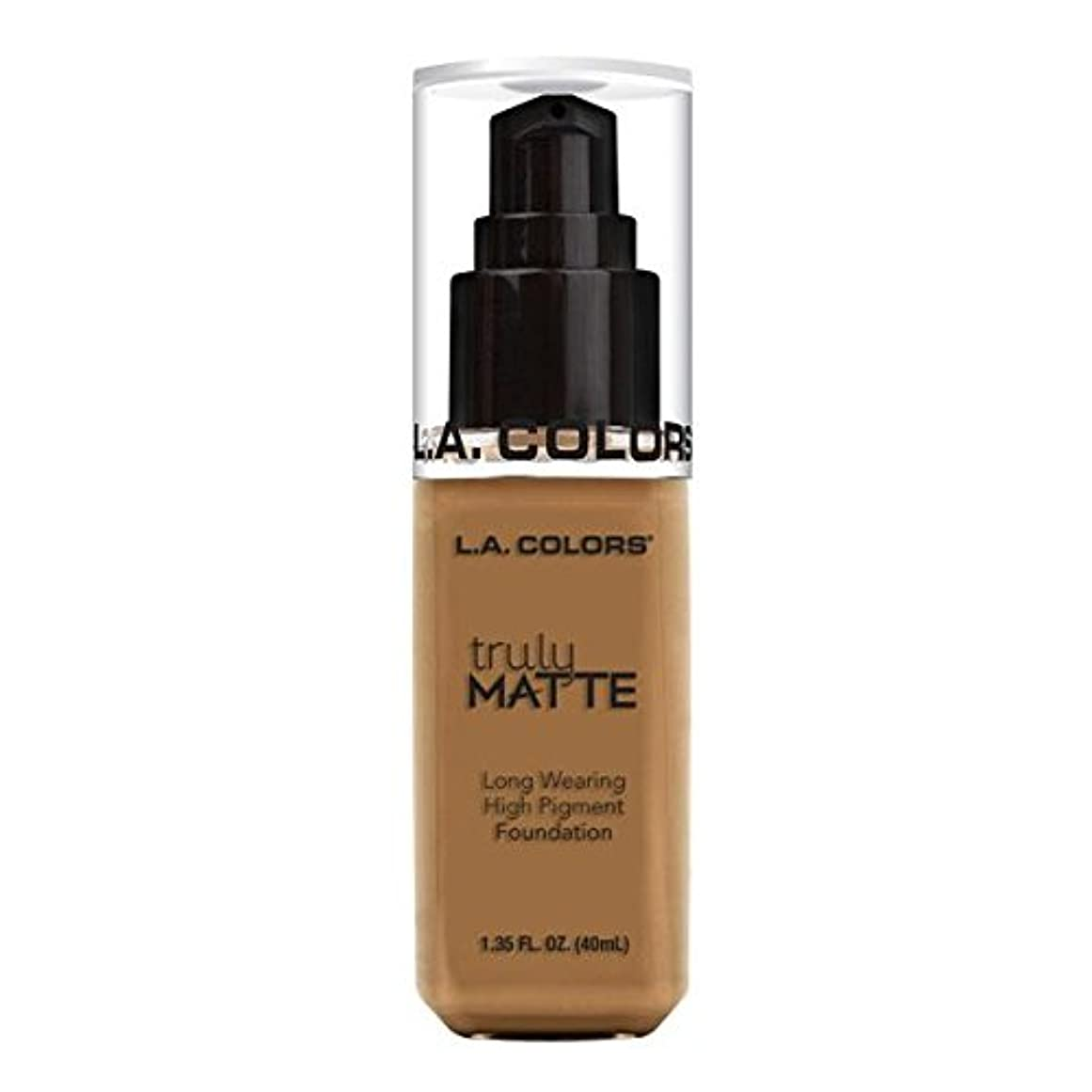 によるとインテリアドロー(6 Pack) L.A. COLORS Truly Matte Foundation - Warm Caramel (並行輸入品)