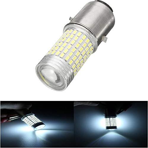 WZhen 12V 1200Lm faro bulbo alto/bajo haz llevó la lámpara para la vespa/ciclomotor/luz del motor 144Smd H6 Ba20D