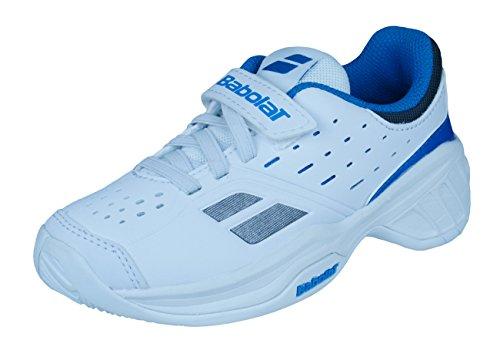BABOLAT Pulsion BPM Tennisschuhe Kinder, Weiß/Blau, 27