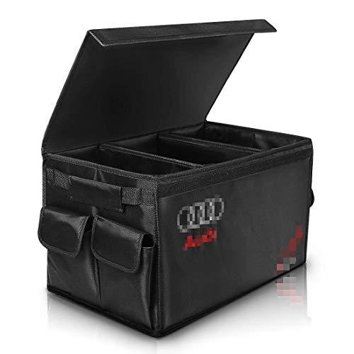 YYD Car Organizer, Auto-Kofferraum Organizer mit Seitentaschen, am besten für Tidy Auto Organisation & Boot Maintenance, Non-Slip Sichere Reise ist Faltbare,A_UDI
