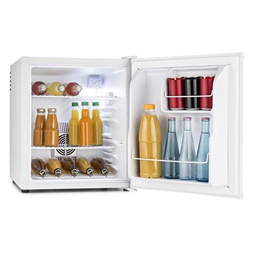 Klarstein MKS-8 Minibar Mini-Kühlschrank Getränkekühlschrank (EEK: A, 40 Liter Volumen, 2 Regaleinschübe, Seitenfächer für Flaschen, 3-stufiger Temperaturregler) weiß