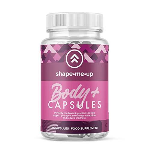 Shape Me Up® Body Plus Nahrungsergänzung, Kapseln mit Grüntee, Koffein, Guarana; Packungsinhalt 90 Kapseln, vegan