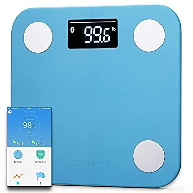 Yunmai Smart Scale - Body Fat Scale with new FREE APP & Body Composition Monitor with Extra Large Display