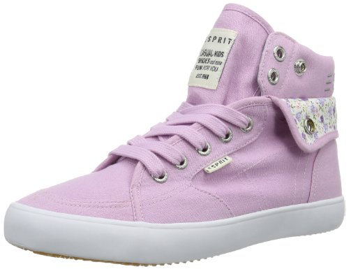 ESPRIT Conny Turn Up 024EKKW023, Unisex-Kinder Sneaker, Pink (rose quartz 666), EU 39