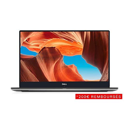 Dell XPS 15-9570 Ordinateur Portable Ultrathin 15,6' Full HD Argent (Intel Core i7, 16 Go de RAM, SSD 512Go, NVIDIA GTX1050Ti 4Go, Windows 10) Clavier AZERTY Français