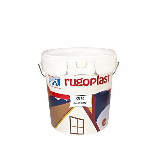 Rugoplast - Pintura plástica blanca mate de alta calidad interior/exterior ideal para decorar tu casa (salón, cocina, baño, dormitorios.) KR-50, Blanco, 4 L
