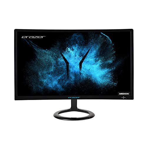 MEDION ERAZER X52471 59,8 cm (23,6 Zoll) Full HD Widescreen Curved Gaming Monitor (144Hz, 1080p, 16:9, 1ms, HDMI, Display Port, DVI-D)