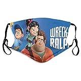 Wreck It Ralph - Funda de tela lavable y reutilizable para llevar con filtros