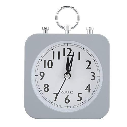 Tissting Reloj Despertador Silencioso Reloj Simple Escritorio Gris Dormitorio Compacto Sala EstarcoracióN Oficina Adorno Reloj PláSticolicado