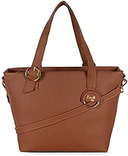 Baggit Women's Synthetic Tote Bag (Brown)