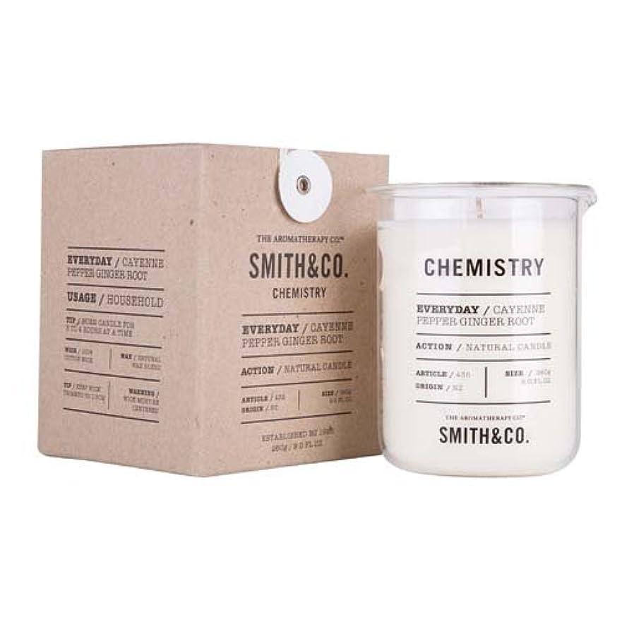 幻滅する望ましい不利Smith&Co. Chemistry Candle ケミストリーキャンドル Cayenne Pepper Ginger Root