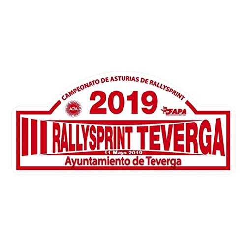 Pegatina Placa RALLYSPRINT TEVERGA 2019 PR308
