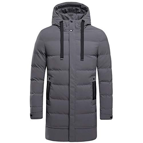 Strungten Herren Übergangsjacke Jacke Jacke gefüttert mit Kapuze Parka Mantel Lange warme gefüttert Softshell Trenchcoat Leichte...