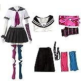 Anime Super DanganRonpa Ibuki Mioda Uniform Suit Cosplay Costume Women Girls Dress Halloween Carnival Costumes (white, L)