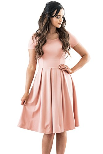"""Grace"" Modest Dress in Blush Pink"
