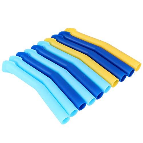 MILISTEN 10Pcs Eyector de Saliva Dental Desechable Tubo de Saliva Dental Tubo de Aspiración Aspirador Suministros Dentales (Color Aleatorio)