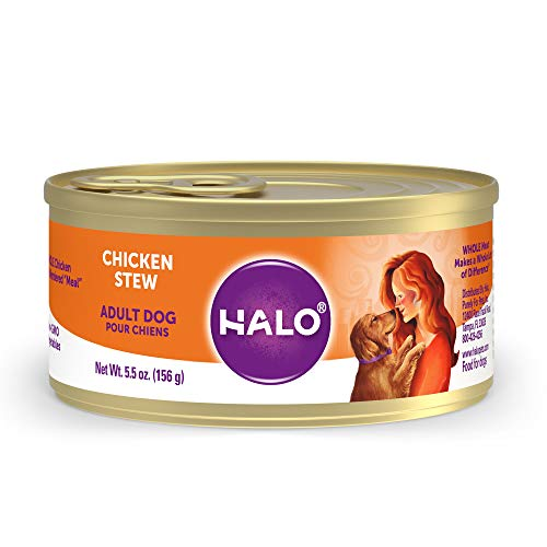 halo wet kitten foods Halo Natural Wet Dog Food, Adult Recipe, Non-GMO,BPA Free, Highly Digestible, Real Meat, Premium Protein , 5.5 Oz (Pack of 12 )