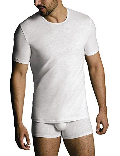 LOVABLE Slub T-Shirt Maglia in Cotton a Girocollo, Intimo, Uomo, Bianco, Large (Taglia Produttore:005)