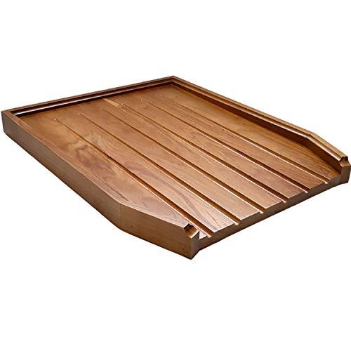 Belfast - Tabla de desagüe en ángulo para fregadero (madera de roble macizo) Model 1 marrón