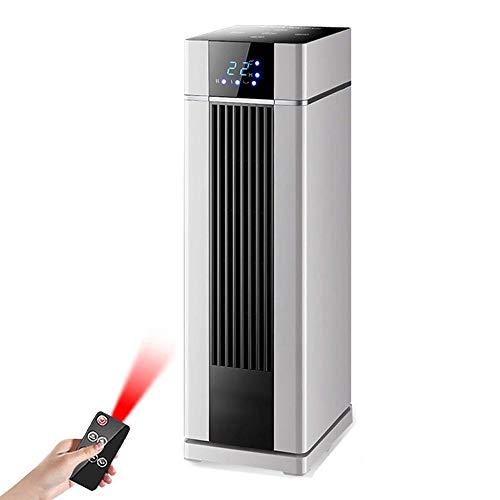 XHHWZB Calentador de espacios, 2000W oscilante interna instantánea calefacción calentador eléctrico, calentador de torre transportable con termostato, temporizador programable 8Hr, Caja Protección con