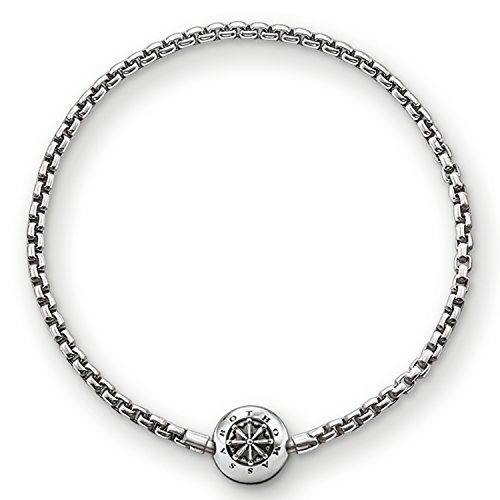 Thomas Sabo Karma Beads, Unisex, pulsera, Plata de ley 925, ennegrecida, KA0002-001-12